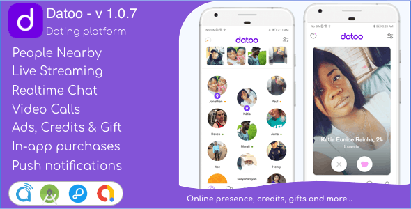 Dating App with Live Steaming and Video calls Android Source Code + Admin Panel