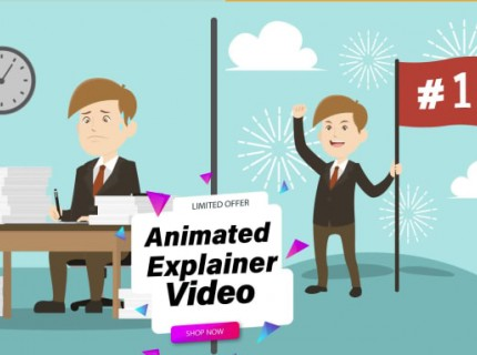 I will create 2d animated marketing video for business and sales
