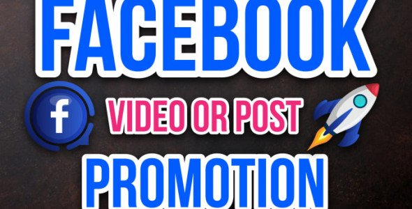 I will do promote your facebook video or post large audience